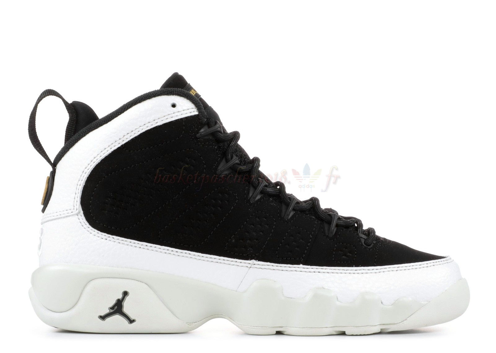 "Vente Chaude Chaussures De Basketball Enfant Air Jordan 9 Retro Bg (Gs) ""City Of Flight"" Noir Blanc (302359-021) Pas Cher"