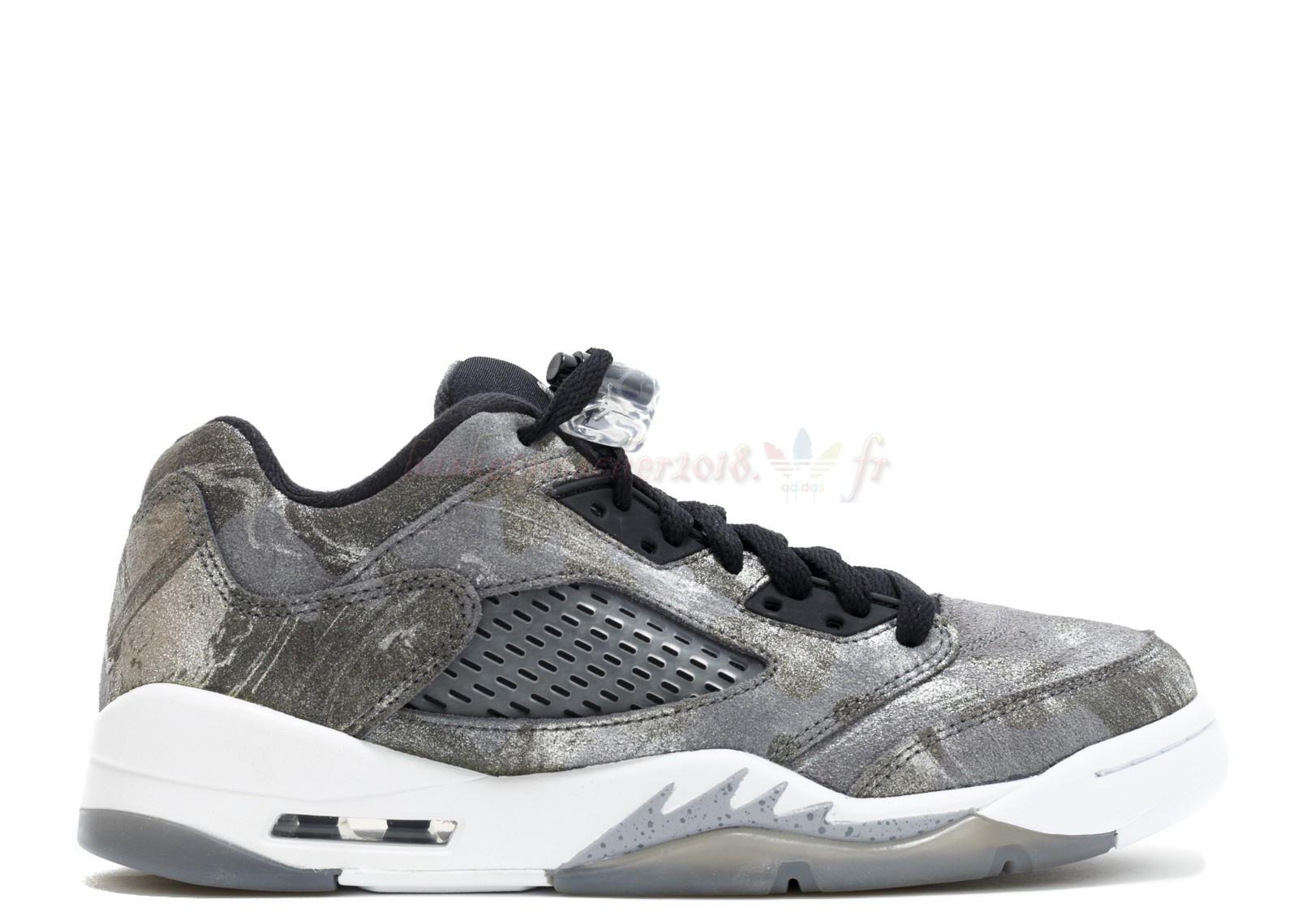 "Vente Chaude Chaussures De Basketball Femme Air Jordan 5 Prem Low (Gs) ""All Star"" Gris (819951-003) Pas Cher"