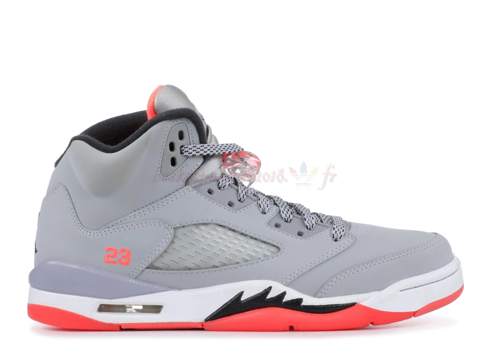 "Vente Chaude Chaussures De Basketball Femme Air Jordan 5 Retro (Gs) ""Hot Lava"" Gris Orange (440892-018) Pas Cher"