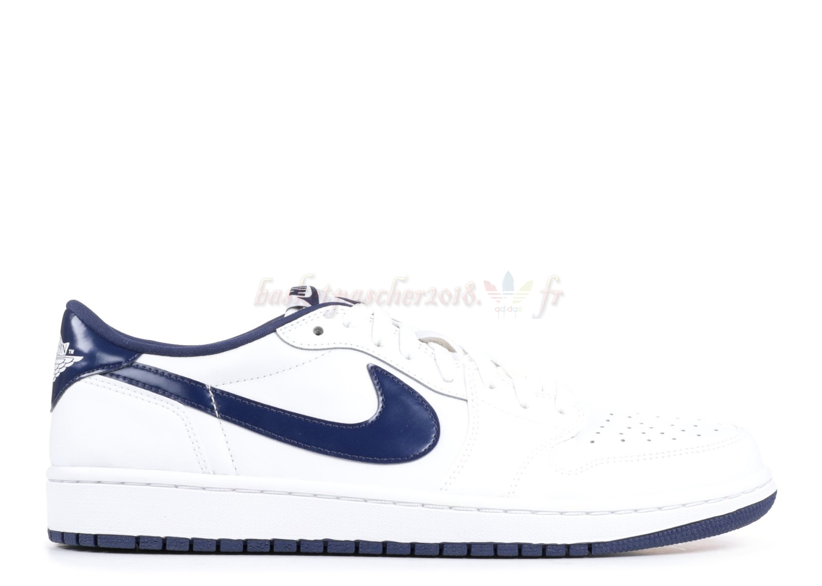 "Vente Chaude Chaussures De Basketball Homme Air Jordan 1 Retro Low Og ""Midnight Navy"" Blanc Marine (705329-106) Pas Cher"