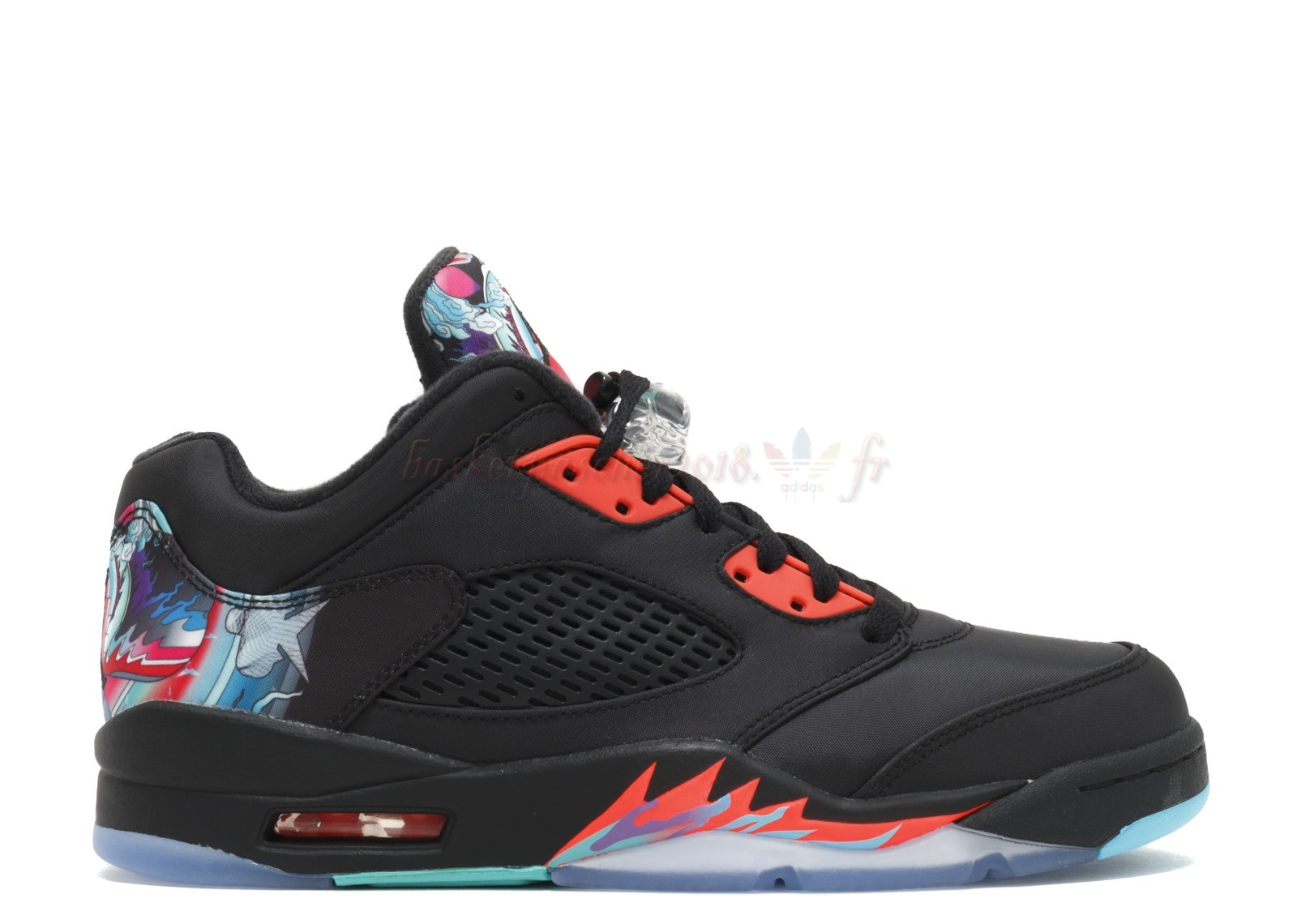 "Vente Chaude Chaussures De Basketball Homme Air Jordan 5 Retro Low Cny ""Chinese New Year"" Noir (840475-060) Pas Cher"