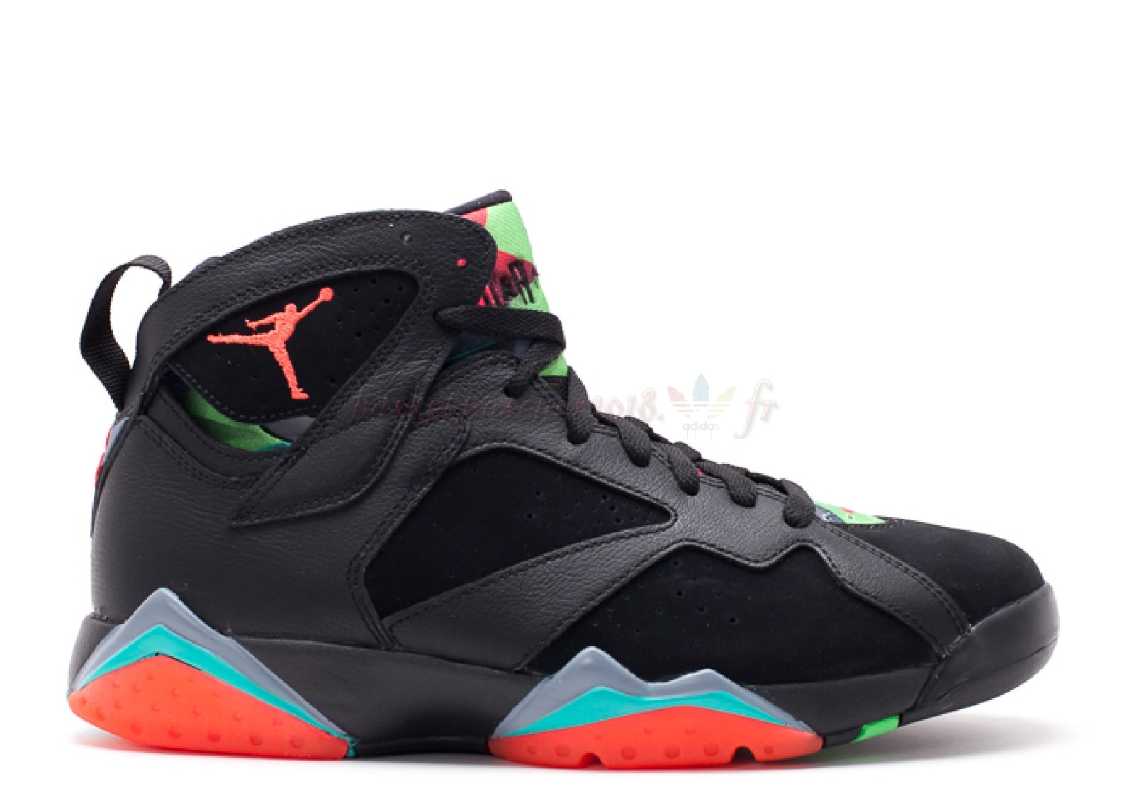"Vente Chaude Chaussures De Basketball Homme Air Jordan 7 Retro ""30Th Barcelona Nights"" Noir Orange (705350-007) Pas Cher"