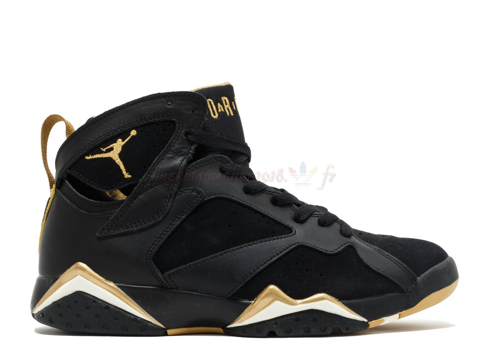 "Vente Chaude Chaussures De Basketball Homme Air Jordan 7 Retro ""Golden Moments Package"" Noir Or (304775-030) Pas Cher"