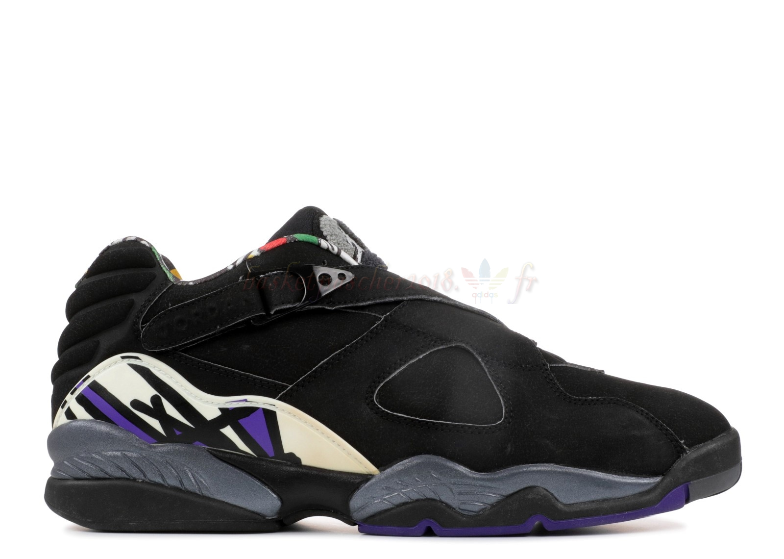 "Vente Chaude Chaussures De Basketball Homme Air Jordan 8 Low Pe ""Mike Bibby Kings Away"" Noir Pourpre (jbm155-m7) Pas Cher"