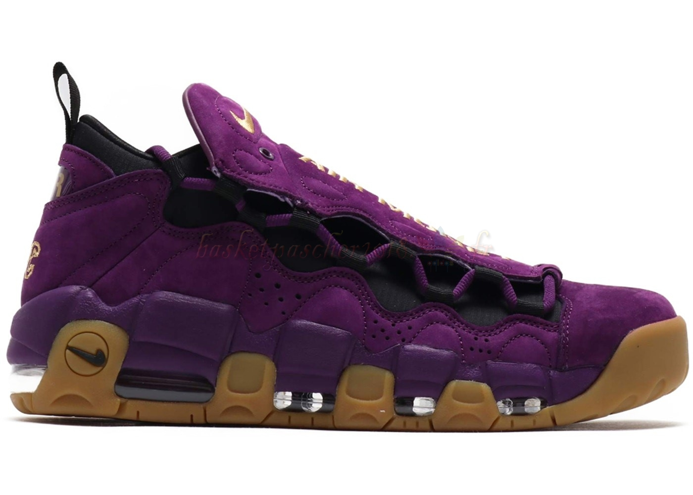 "Vente Chaude Chaussures De Basketball Homme Air More Money ""Night Purple"" Pourpre Marron (ar5401-500) Pas Cher"