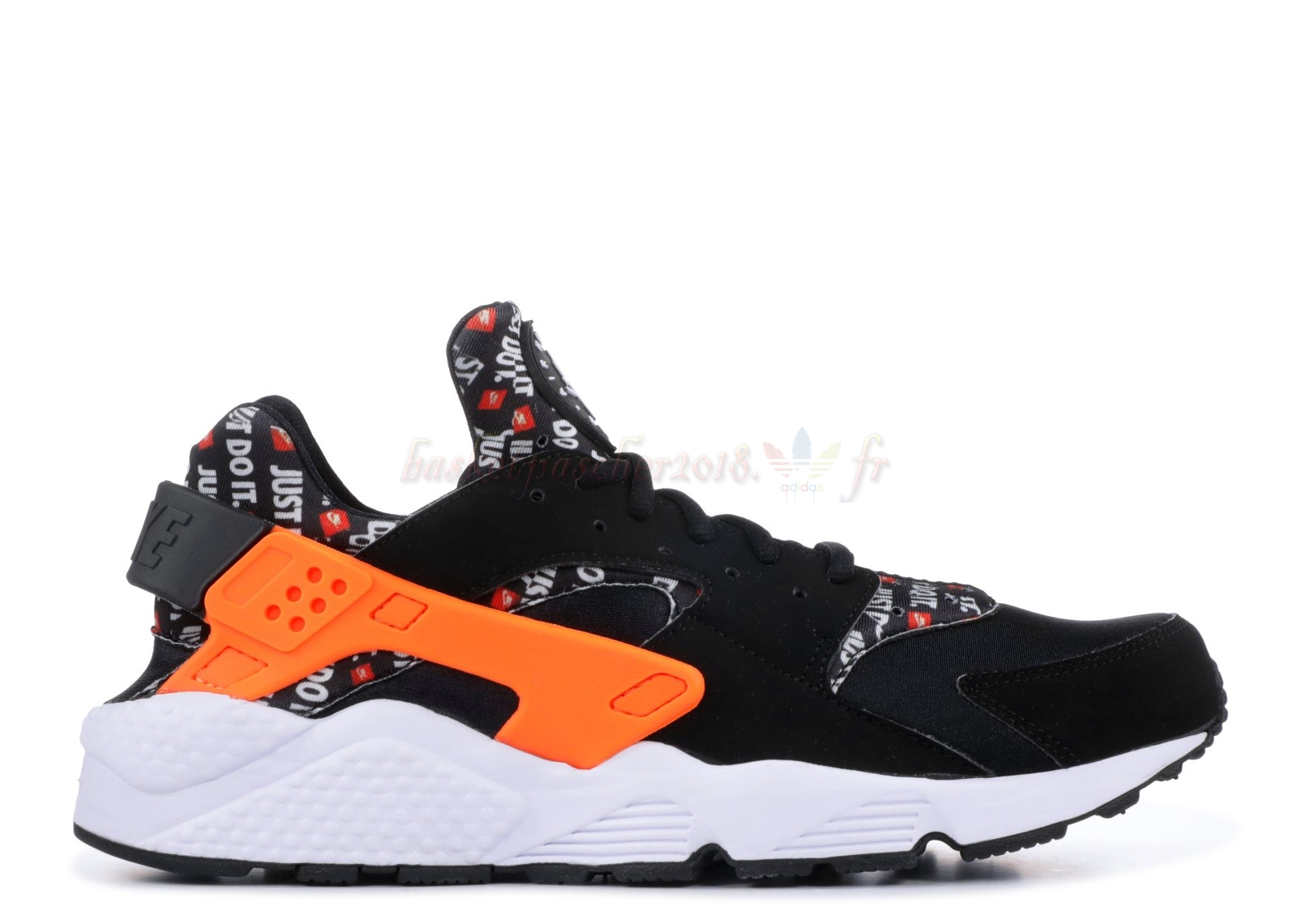 "Vente Chaude Chaussures De Basketball Homme Nike Air Huarache Run ""Just Do It"" Noir Orange (at5017-001) Pas Cher"