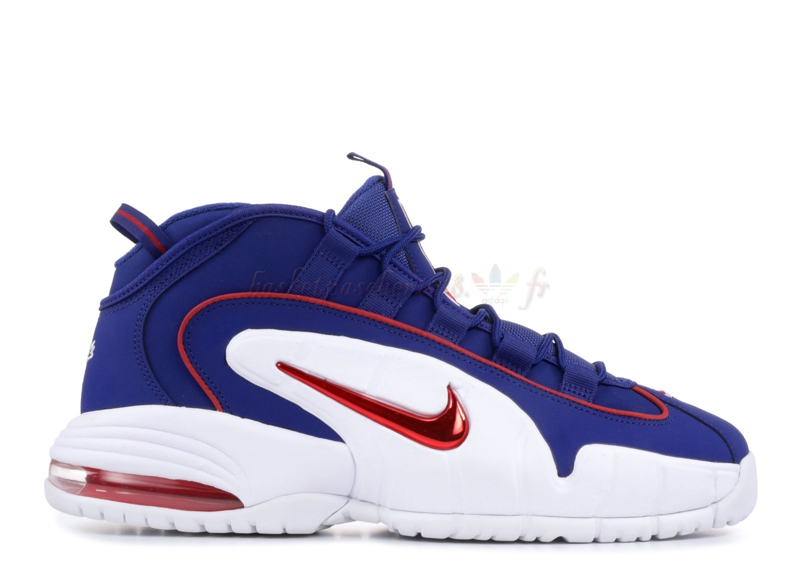 "Vente Chaude Chaussures De Basketball Homme Nike Air Max Penny ""Lil Penny"" Bleu Rouge Blanc (685153-400) Pas Cher"