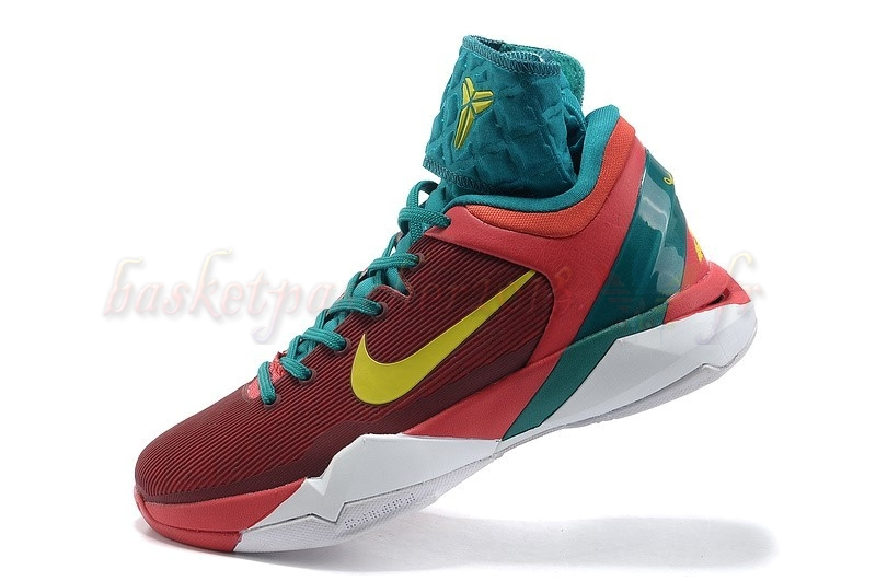 Vente Chaude Chaussures De Basketball Homme Nike Kobe Vii 7 Rouge Vert Blanc Pas Cher