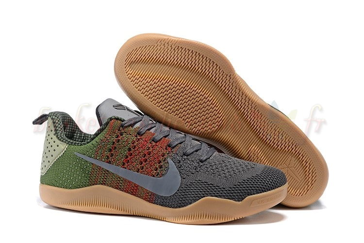 "Vente Chaude Chaussures De Basketball Homme Nike Kobe Xi 11 Black ""Horse Black"" Red Green Pas Cher"