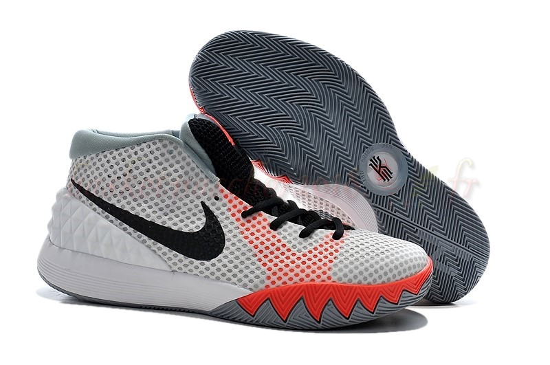 "Vente Chaude Chaussures De Basketball Homme Nike Kyrie Irving I 1 ""Infrared"" Blanc Noir (705277-100) Pas Cher"