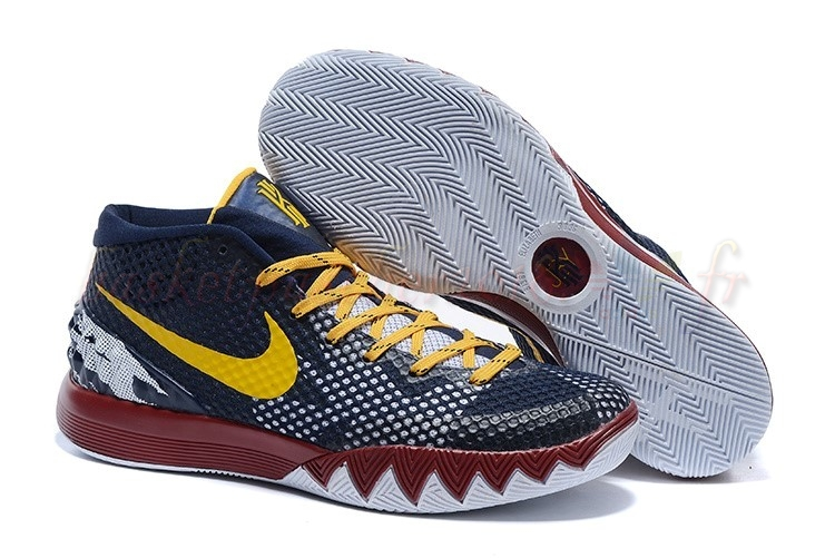 Vente Chaude Chaussures De Basketball Homme Nike Kyrie Irving I 1 Marine Rouge Jaune Pas Cher