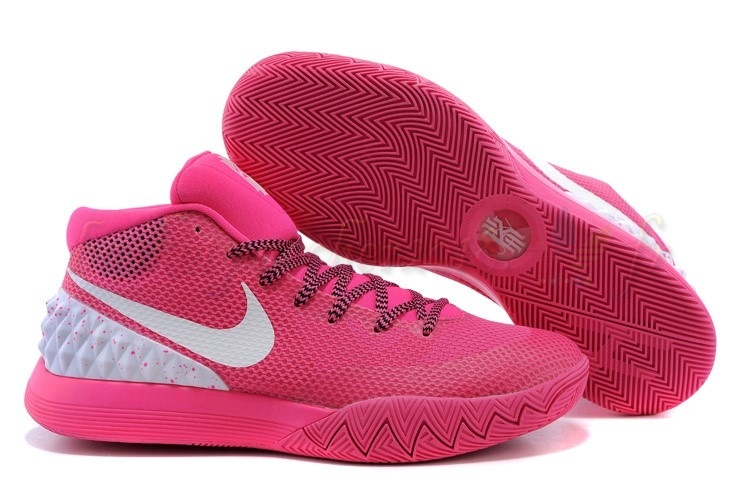 Vente Chaude Chaussures De Basketball Homme Nike Kyrie Irving I 1 Rose Blanc Pas Cher