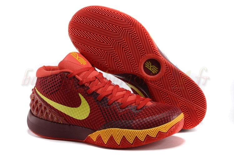 Vente Chaude Chaussures De Basketball Homme Nike Kyrie Irving I 1 Rouge Jaune Pas Cher