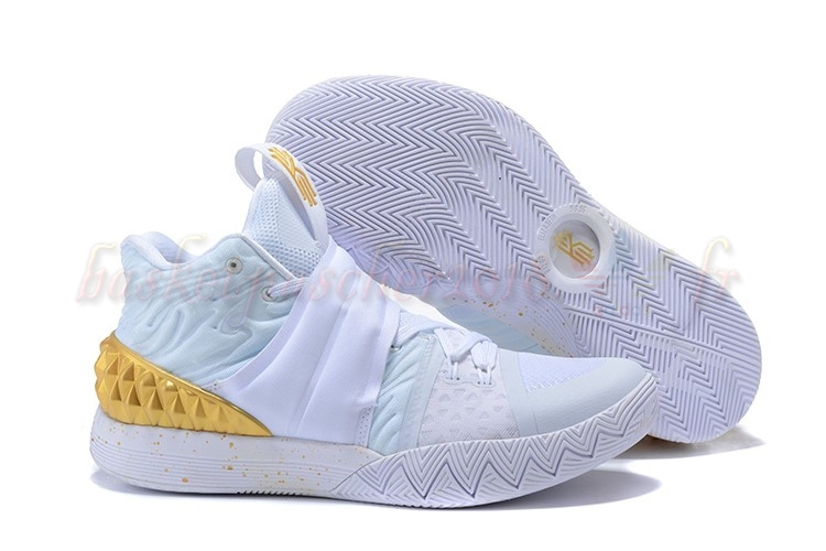 Vente Chaude Chaussures De Basketball Homme Nike Kyrie S1 Hybrid Blanc Or Pas Cher