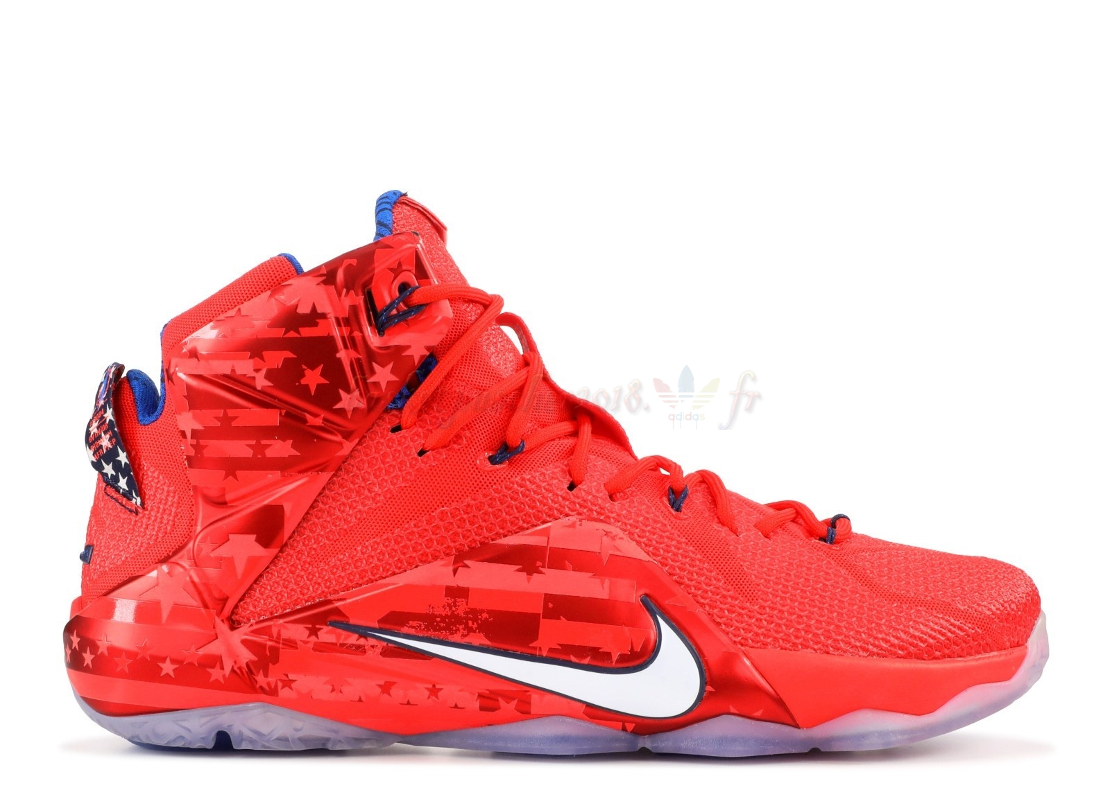 "Vente Chaude Chaussures De Basketball Homme Nike Lebron Xii 12 ""Usa"" Rouge Pas Cher"