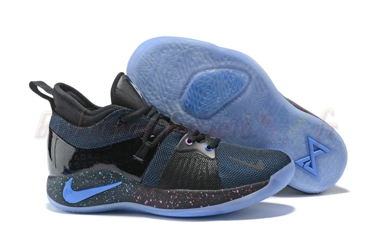 "Vente Chaude Chaussures De Basketball Homme Nike Pg 2 ""Playstation"" Noir Marine (at7815-002) Pas Cher"