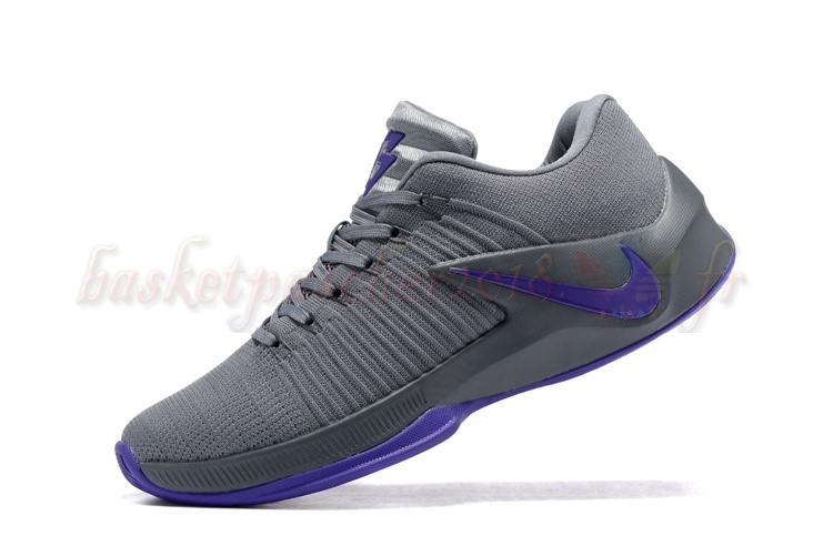 Vente Chaude Chaussures De Basketball Homme Nike Zoom Clear Out Low Gris Pourpre Pas Cher