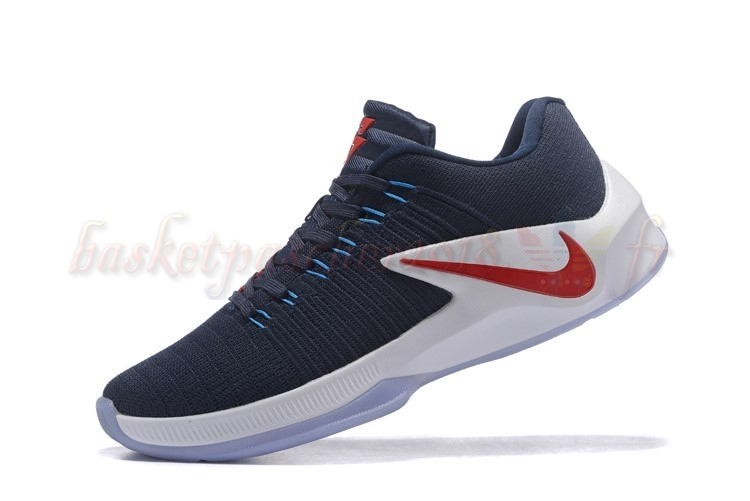 Vente Chaude Chaussures De Basketball Homme Nike Zoom Clear Out Low Marine Rouge Pas Cher