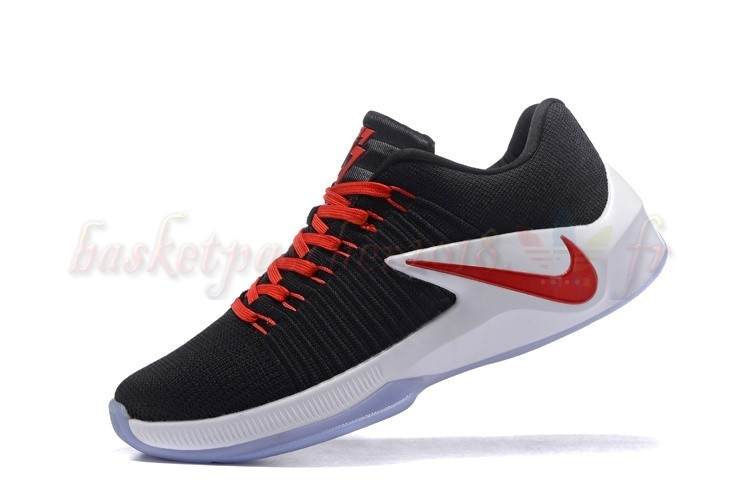Vente Chaude Chaussures De Basketball Homme Nike Zoom Clear Out Low Noir Rouge Pas Cher