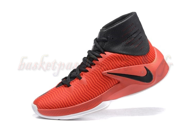 Vente Chaude Chaussures De Basketball Homme Nike Zoom Clear Out Rouge Noir (844370-606) Pas Cher