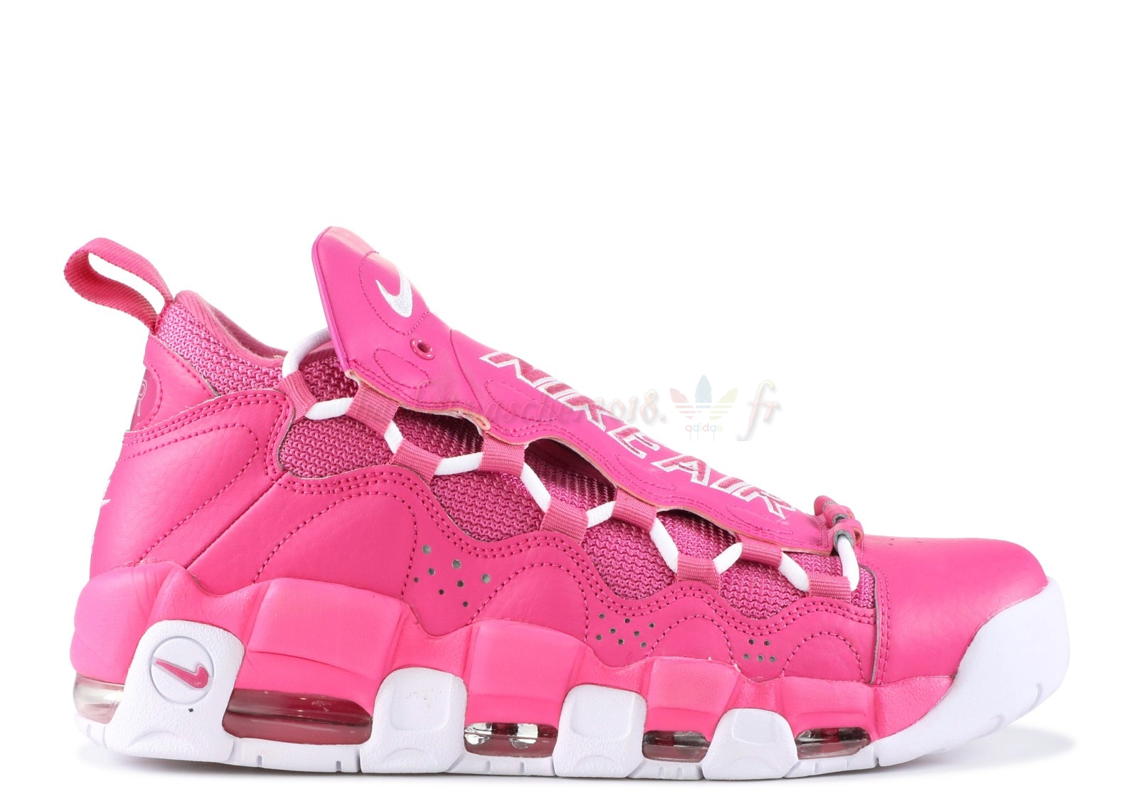 "Vente Chaude Chaussures De Basketball Homme Sneaker Room X Air More Money Qs ""Breast Cancer Awareness"" Rose Blanc (aj7383-600) Pas Cher"