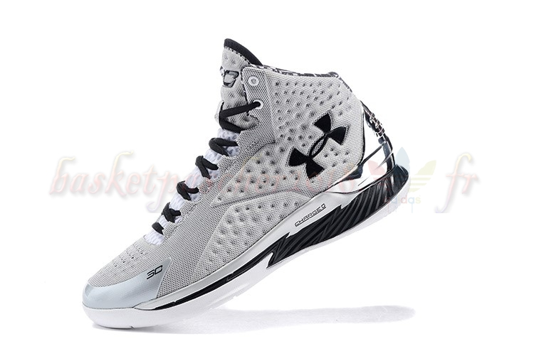 Vente Chaude Chaussures De Basketball Homme Under Armour Curry 1 Gris Pas Cher