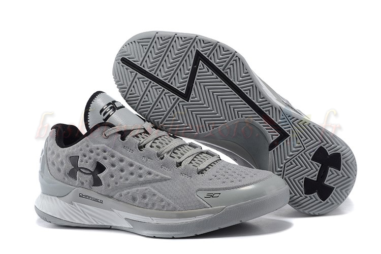 Vente Chaude Chaussures De Basketball Homme Under Armour Curry 1 Low Gris Noir Pas Cher