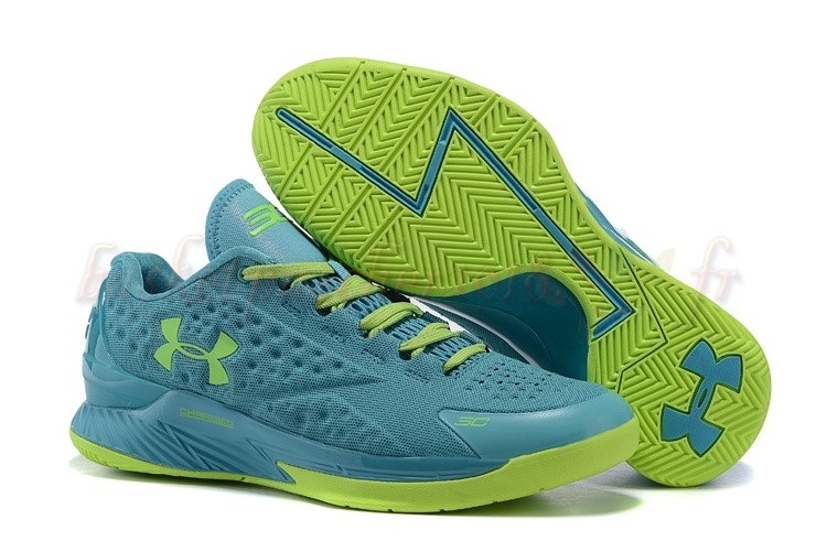 Vente Chaude Chaussures De Basketball Homme Under Armour Curry 1 Low Vert Volt Pas Cher