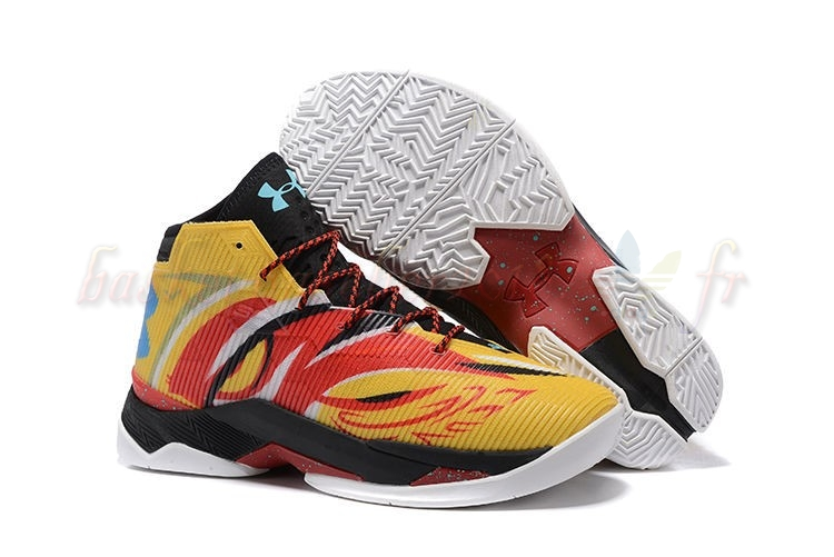 "Vente Chaude Chaussures De Basketball Homme Under Armour Curry 2.5 ""Sun Wukong"" Jaune Pas Cher"