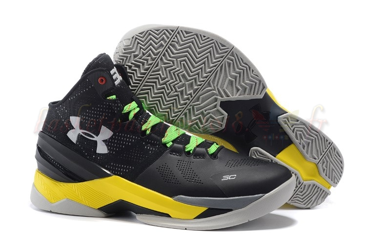 Vente Chaude Chaussures De Basketball Homme Under Armour Curry 2 Gris Jaune Pas Cher