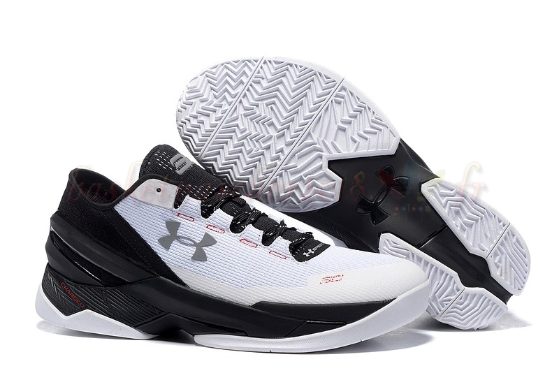 Vente Chaude Chaussures De Basketball Homme Under Armour Curry 2 Low Blanc Noir Pas Cher