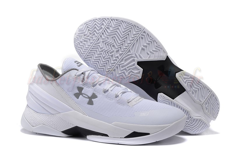 Vente Chaude Chaussures De Basketball Homme Under Armour Curry 2 Low Blanc Pas Cher