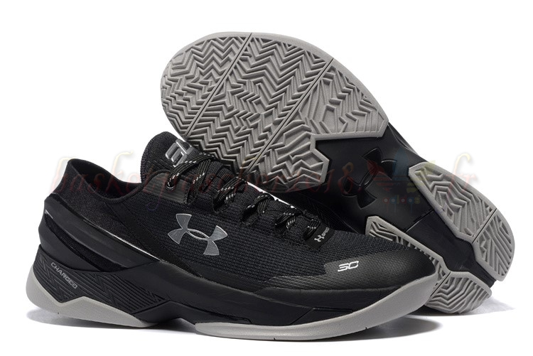 Vente Chaude Chaussures De Basketball Homme Under Armour Curry 2 Low Noir Gris Pas Cher