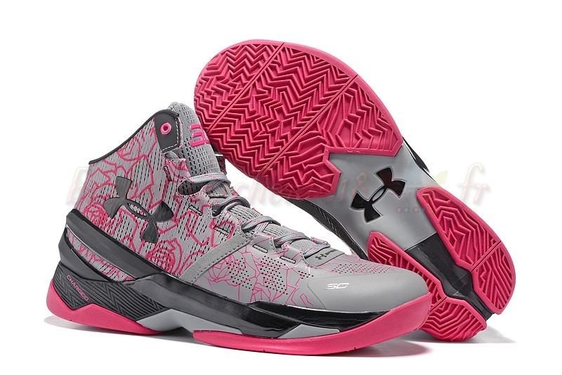 "Vente Chaude Chaussures De Basketball Homme Under Armour Curry 2 ""Mothers Day"" Rose Pas Cher"