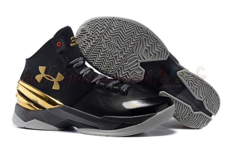 Vente Chaude Chaussures De Basketball Homme Under Armour Curry 2 Noir Or Pas Cher