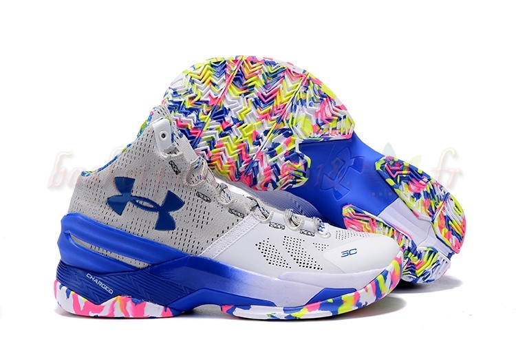 "Vente Chaude Chaussures De Basketball Homme Under Armour Curry 2 ""Surprise Party"" Pas Cher"