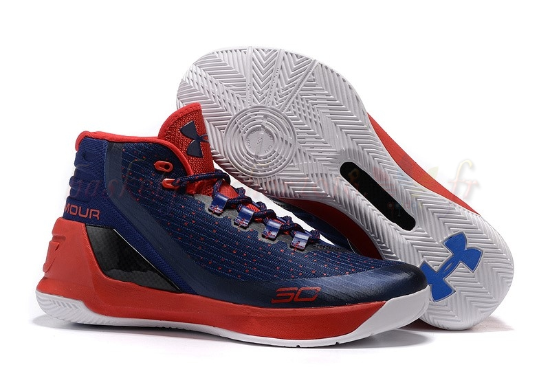 Vente Chaude Chaussures De Basketball Homme Under Armour Curry 3 Marine Blanc Rouge Pas Cher