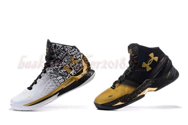 "Vente Chaude Chaussures De Basketball Homme Under Armour Curry ""Back To Back"" Pack Noir Blanc Pas Cher"