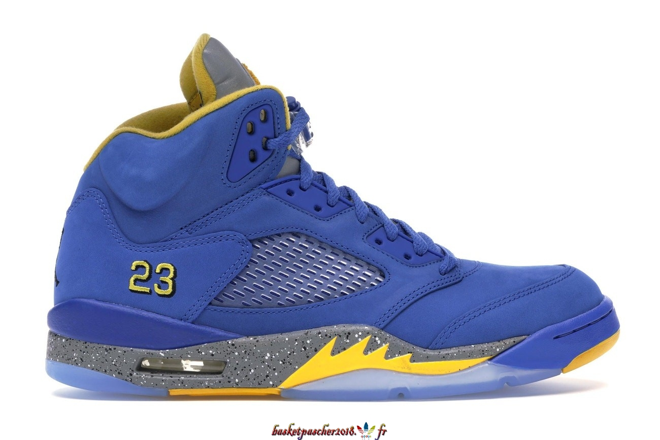Vente Chaude Chaussures De Basketball Homme Air Jordan 5 Retro Jsp Laney Varsity Royal (CD2720-400) Pas Cher