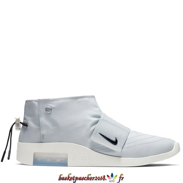 Vente Chaude Chaussures De Basketball Homme Nike Air Fear Of God Moc Pure Platinum Blanc (AT8086-001) Pas Cher