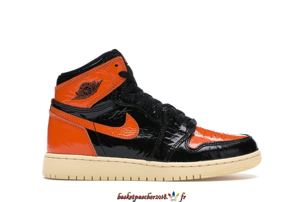 "Vente Chaude Chaussures De Basketball Enfant Air Jordan 1 High Retro (GS) ""Shattered Backboard 3.0"" Noir Orange (575441-028) Pas Cher"