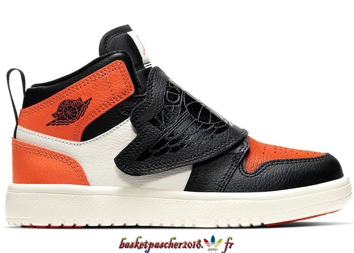 "Vente Chaude Chaussures De Basketball Enfant Sky Air Jordan 1 (PS) ""Shattered Backboard"" Orange Noir (BQ7197-008) Pas Cher"