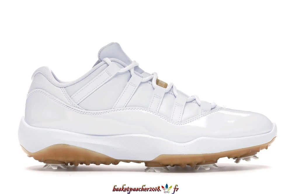 "Vente Chaude Chaussures De Basketball Homme Air Jordan 11 Low Retro Golf ""Metallic Gold"" Blanc (AQ0963-102) Pas Cher"