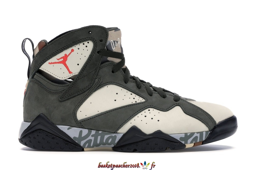 "Vente Chaude Chaussures De Basketball Homme Air Jordan 7 Retro ""Patta Icicle"" Olive (AT3375-100) Pas Cher"