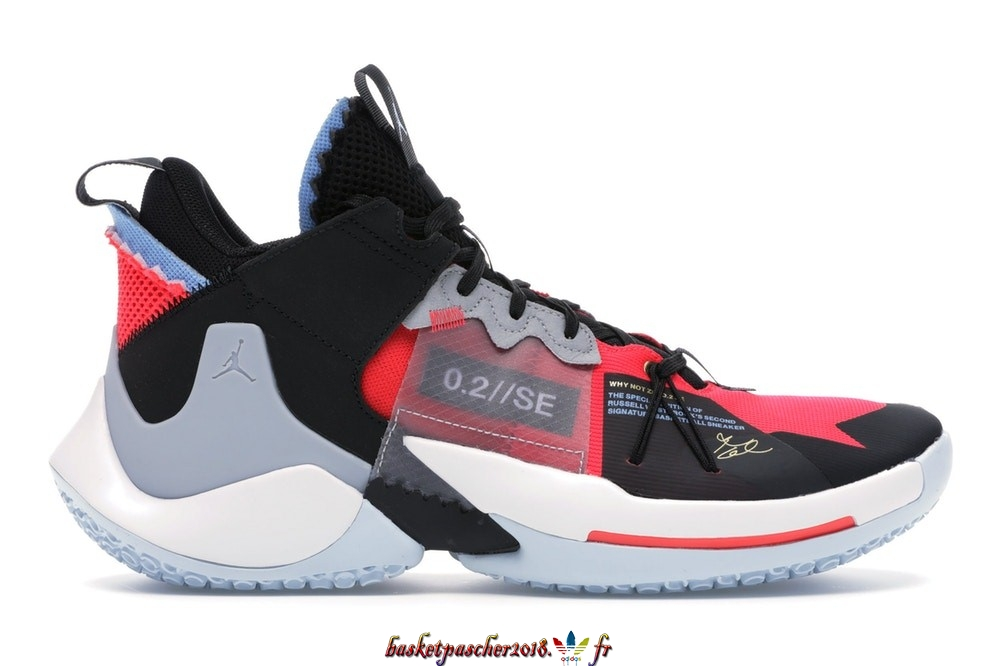 "Vente Chaude Chaussures De Basketball Homme Air Jordan Why Not Zer0.2 Se ""Red Orbit"" Noir Rouge Bleu (AV4126-600/AQ3562-600) Pas Cher"
