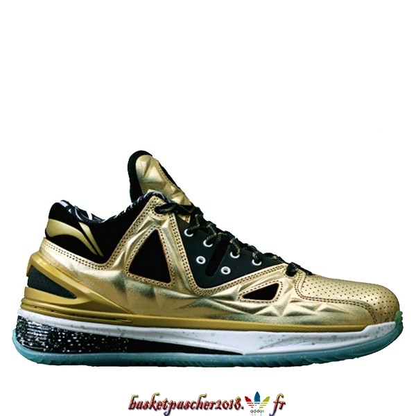 "Vente Chaude Chaussures De Basketball Homme Li Ning Way Of Wade 2.5 ""Encore Orrush"" Or (ABAJ003-12) Pas Cher"