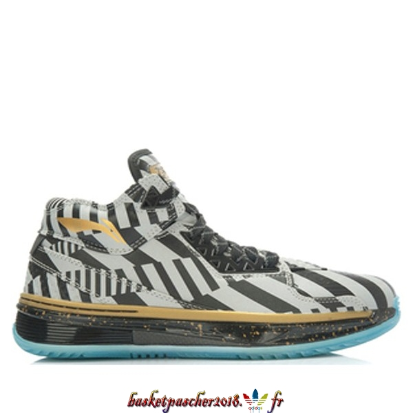 "Vente Chaude Chaussures De Basketball Homme Li Ning Way Of Wade 2 ""Birthday"" Noir Argent Or (ABAH017-17) Pas Cher"