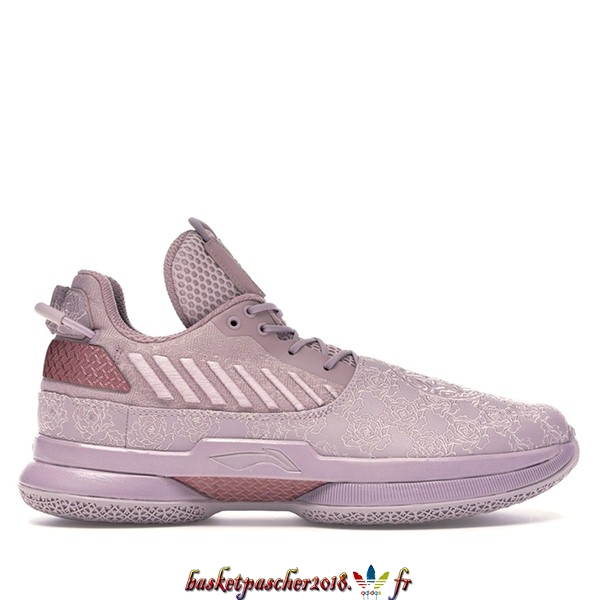 "Vente Chaude Chaussures De Basketball Homme Li Ning Way Of Wade 7 ""All Star"" 2019 Pourpre (ABAN079-10) Pas Cher"