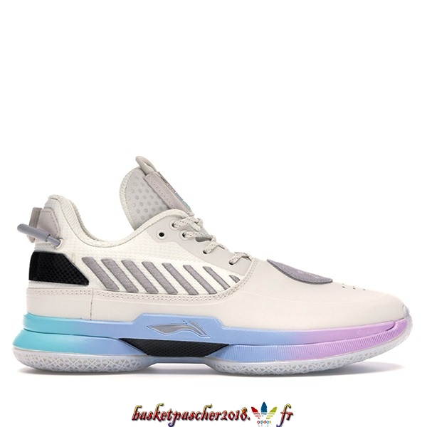 "Vente Chaude Chaussures De Basketball Homme Li Ning Way Of Wade 7 ""Cotton Candy"" Blanc (ABAN079-12) Pas Cher"