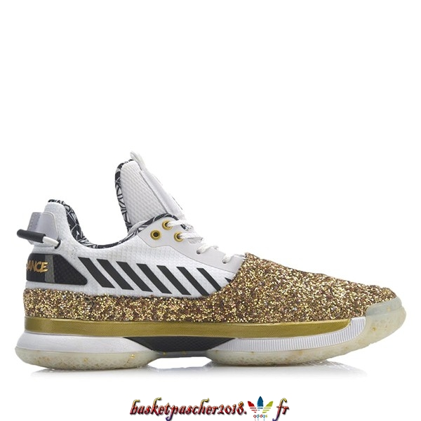 "Vente Chaude Chaussures De Basketball Homme Li Ning Way Of Wade 7 ""One Last Dance Away"" Blanc Or (ABAN079-37) Pas Cher"